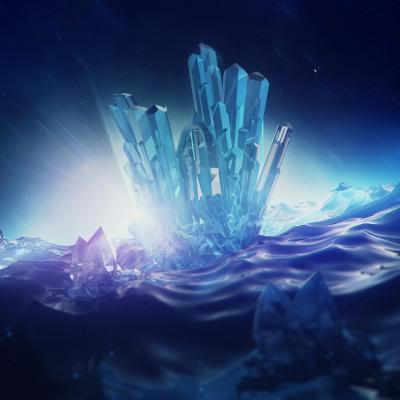 Digital rendering crystals 1024x768