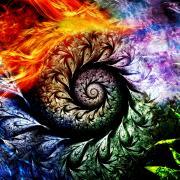 Les quatres dragons elements priere chamanique